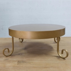 Rental store for CAKE STAND, GOLD ROUND 18 in Camarillo CA