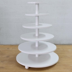 Rental store for PASTRY SERVER, 6 TIER WHITE ROUND in Camarillo CA
