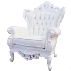 Rental store for LOUNGE, WHITE VICTORIAN LG ARM CHAIR in Camarillo CA
