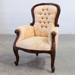 Rental store for VINTAGE, ARM CHAIR TUFTED SOFT GOLD in Camarillo CA