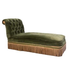 Rental store for VINTAGE, CHAISE GREEN VELVET in Camarillo CA