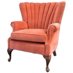 Rental store for VINTAGE, CHAIR UPHOLST. CORAL VELVET in Camarillo CA