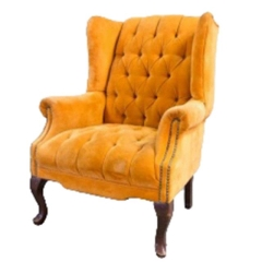 Rental store for VINTAGE, CHAIR UPHOLST. ORANGE WINGBACK in Camarillo CA
