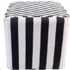 Rental store for LOUNGE, POUF BK WH CH STRIPE in Camarillo CA