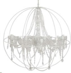 Rental store for LIGHT, CHANDELIER ROUND WHT in Camarillo CA