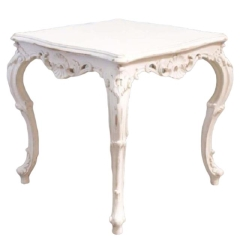 Rental store for VINTAGE, SIDE TABLE SQ WHITE SHAB CHIC in Camarillo CA