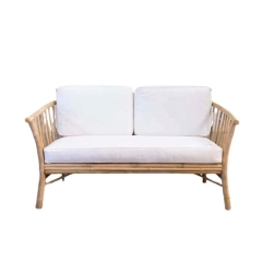 Rental store for LOUNGE, BAMBOO LOVESEAT WHITE CUSHIONS in Camarillo CA