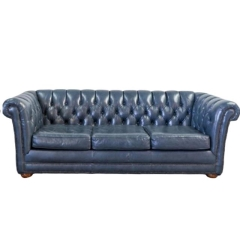 Rental store for VINTAGE, SOFA CHESTER NAVY LEATHER in Camarillo CA