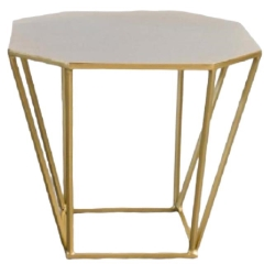 Rental store for LOUNGE, TABLE SIDE GLD METAL OCTAGONAL in Camarillo CA