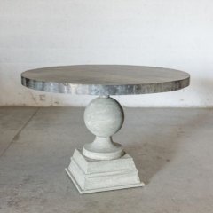 Rental store for TABLES, ZINC RND PEDESTAL in Camarillo CA