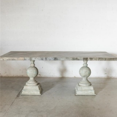 Rental store for TABLES, ZINC RECTANGLE DOUBLE PEDESTAL in Camarillo CA