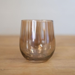 Rental store for GLASS, METALLIC BEIGE WINE STEMLESS in Camarillo CA