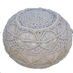 Rental store for LOUNGE, POUF MACRAME IVORY in Camarillo CA
