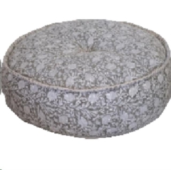 Rental store for LOUNGE, POUF GREY BLOOM BLOCK PRINT in Camarillo CA