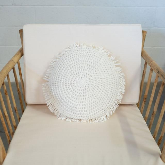 Where to find PILLOW, RND WHITE CROCHET W FRINGE 16 in Camarillo