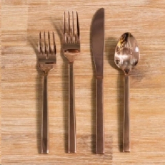 Rental store for MODERN ROSE GOLD FLATWARE in Camarillo CA