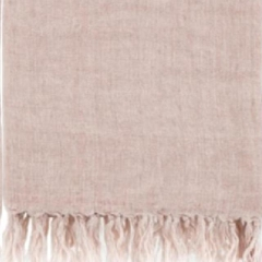 Rental store for TEXTILE, THROW FRINGED LINEN BLUSH in Camarillo CA