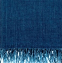 Rental store for TEXTILE, THROW FRINGED LINEN COBALT in Camarillo CA
