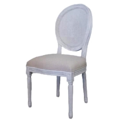 Rental store for LOUNGE, CHAIR CANE RND LINEN SEAT WHITE in Camarillo CA