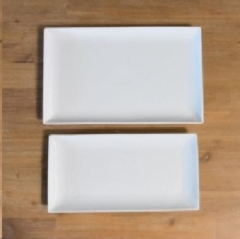 Rental store for WHITE CERAMIC RECTANGLE SERVING TRAYS in Camarillo CA
