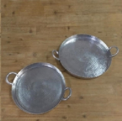 Rental store for POUNDED PEWTER ROUND TRAY in Camarillo CA