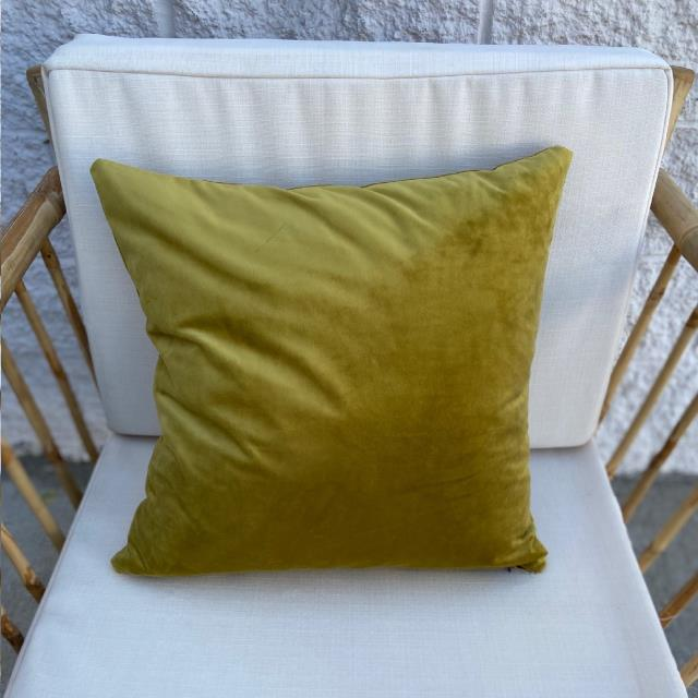 Where to find PILLOW, SQ VELVET CURRY GREEN in Camarillo