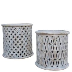Rental store for ROUND LATTICE SIDE TABLES in Camarillo CA