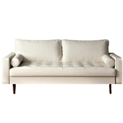 Rental store for LOUNGE, SOFA WHITE LEATHERETTE in Camarillo CA