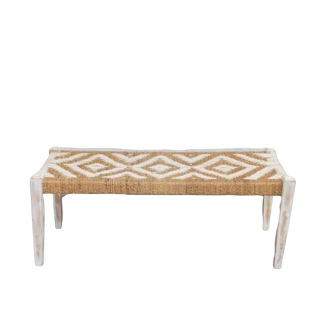Where to find NATURAL WOVEN BENCH   LARGE   SMALL in Camarillo